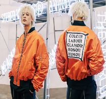 STEREO VINYLS COLLECTION(ステレオビニールズコレクション) ブルゾン 新作SS17【STEREO VINYLS 】 MA-1 Bomber Jacket(Orange)