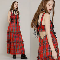 ROCKET X LUNCH(ロケットランチ) ワンピース ◇ROCKET X LUNCH◇17ss R CHECK BUSTIER OPS ( 2色展開 )