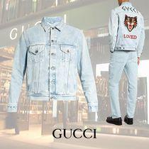GUCCI/Loved-embroideredデニムジャケット