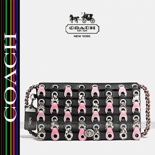 COACH★コーチリンク DINKY IN EXOTIC COACH LINK LEATHER 86855