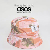 ASOS(エイソス) ハット 国内送関込★ASOS★Reversible Bucket Hat In Tropical Print