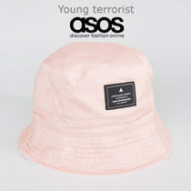 ASOS(エイソス) ハット 国内送関込★ASOS★Reversible Bucket Hat In Dusty Pink