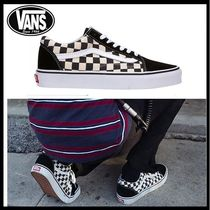 【VANS バンズ】Old Skool Checkerboard black/espresso