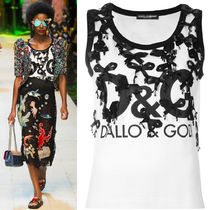 17SS DG992 LOOK79 BOW EMBELLISHED TANK TOP