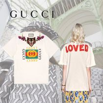 GUCCI Angry Cat Embroidered Cotton T-shirt
