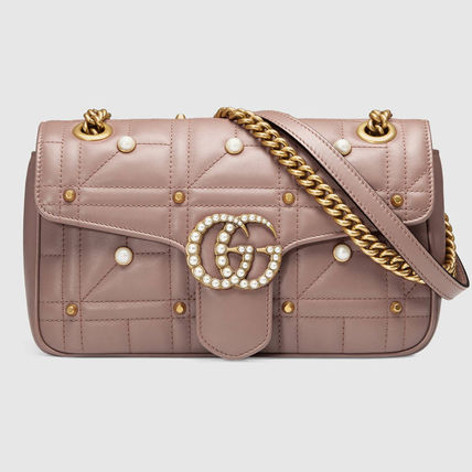 [GUCCI] ★2017 SS★ GG Marmont ショルダー中 Nude
