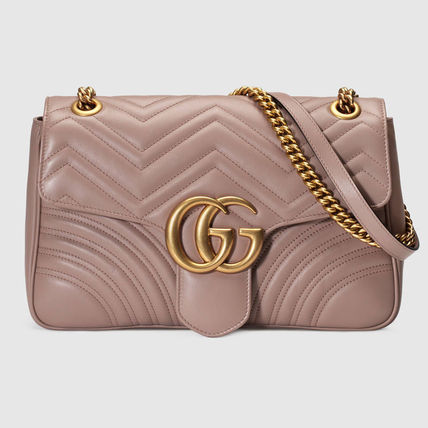 [GUCCI] ★2017 SS★ GG Marmont ショルダー大 Nude