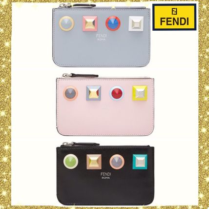 Lowest FENDI colorful studded Keyring Pouch