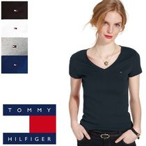 Tommy Hilfiger(トミーヒルフィガー) Tシャツ・カットソー ☆⌒'*sale★Tommy Hilfiger★Vネック・フラッグTシャツ