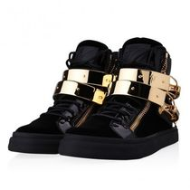 ☆国内発☆GIUSEPPE ZANOTTI/latch velvet high top sneakers
