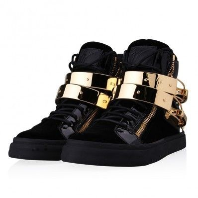 GIUSEPPE ZANOTTI/latch velvet high top sneakers