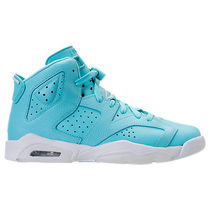 SS17 AIR JORDAN RETRO 6 STILL BLUE GS 22.5-27.5cm 送料無料