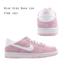 NIKE KIDS DUNK LOW ピンク キッズ レディース