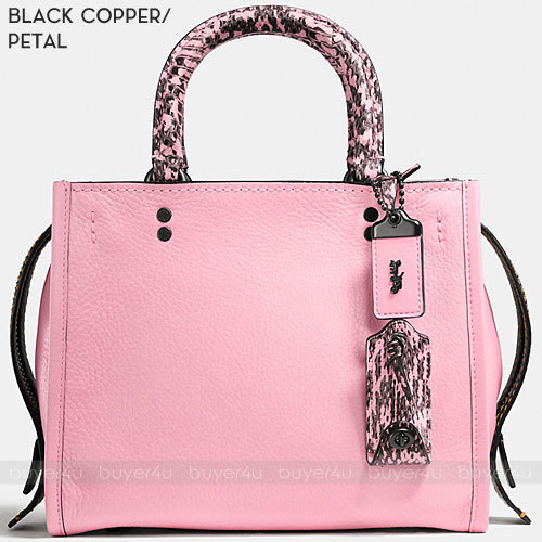 COACH★ROGUE 25 PEBBLE LEATHER WITH COLORBLOCK SNAKE 59235