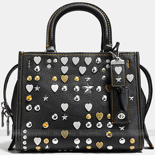 COACH★ROGUE 25 IN PEBBLE LEATHER WITH BEATNIK RIVETS 86853