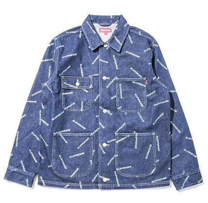 在庫有★送料込み★Supreme Denim Logo Chore Coat Jacket