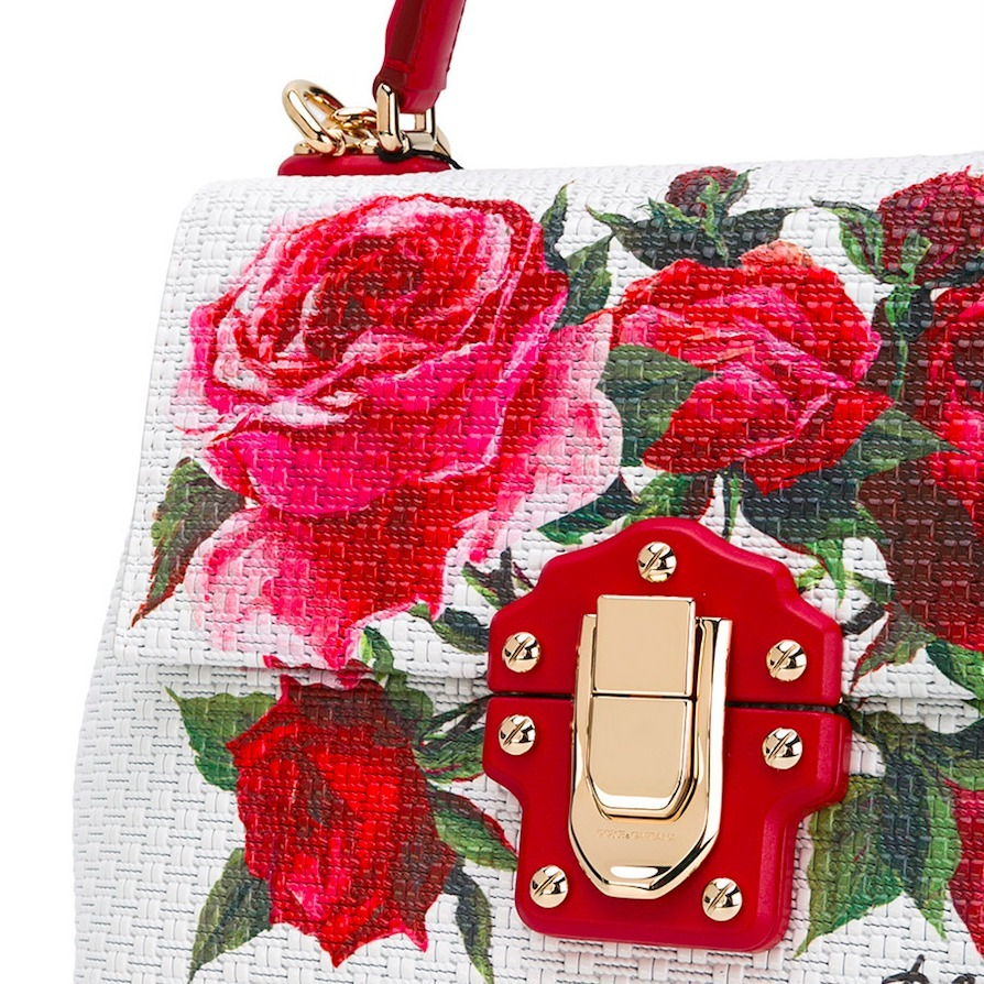 17SS DG1012 ROSE PRINTED LUCIA SMALL BAG