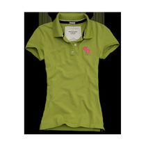 Abercrombie & Fitch(アバクロ) ポロシャツ 国内発送、XSサイズCharlie!きれいなLime Green