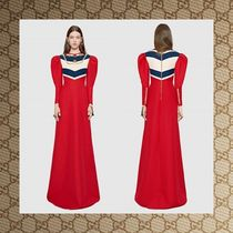 ☆16AW☆ GUCCI Wool silk embroidered gown