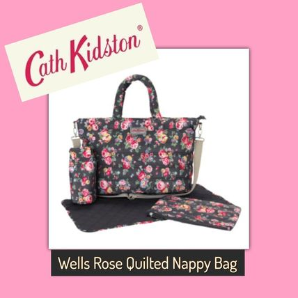 Cath Kidston / Nappy Bag /WELLS ROSE QUILTED NAPPY BAG