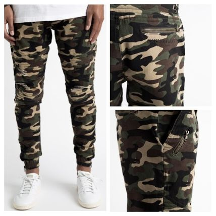 CAYLER &SONS damage processing CAMO Jogger pants
