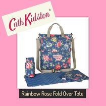 Cath Kidston / Nappy Bag / RAINBOW ROSE FOLD OVER TOTE