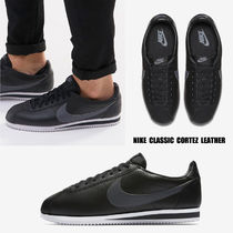 NIKE★CLASSIC CORTEZ LEATHER★レザー★BLACK/DARK GREY