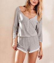☆Victoria's Secret☆ Ribbed Romper 長袖 スリープ ロンパース