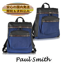Paul Smith(ポールスミス) バックパック・リュック 【関税送料込】Paul Smith 新作★レザー&ナイロン バックパック