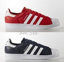 【SALE】adidas Superstar Foundation メンズスニーカー 紺&赤
