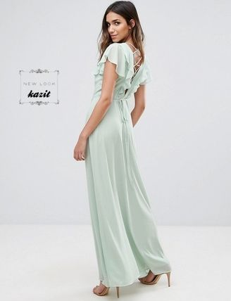 * New Look * * lace UP back Maxi dress /MINT
