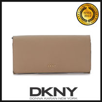 DKNY(ディーケーエヌワイ) 長財布 ★国内発送 DKNY Natural Beige Leather Wallet