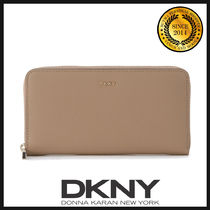 DKNY(ディーケーエヌワイ) 長財布 ★国内発送 DKNY Beige Natural Saffiano Leather Wallet