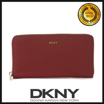 DKNY(ディーケーエヌワイ) 長財布 ★国内発送 DKNY Wallet In Scarlet Red Saffiano Leather