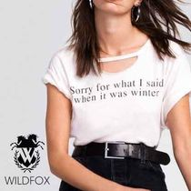 WILDFOX LA発ブランド グラフィック  Tシャツ Sorry For What …