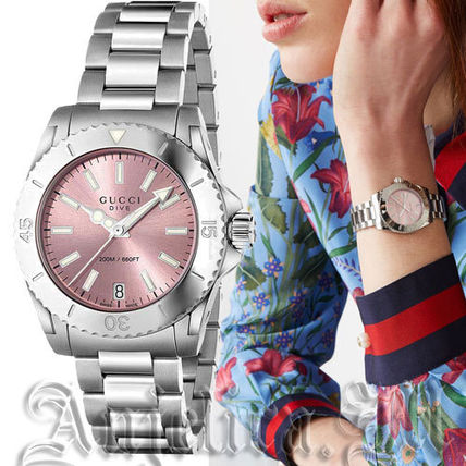★人気★GUCCI Medium Pink Dial  Ladies Watch YA136401