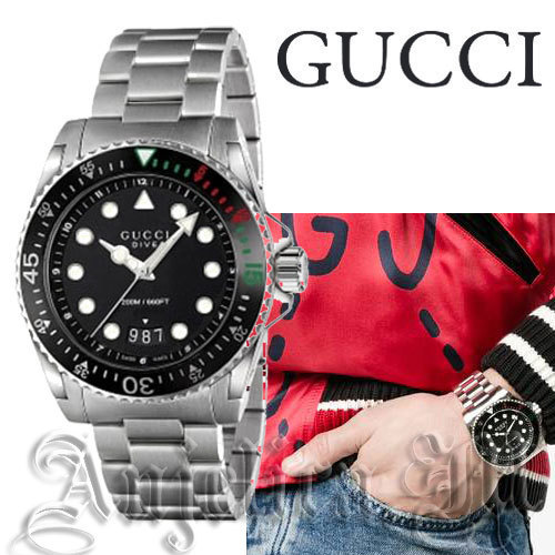 ★人気★GUCCI Dive XL Black Dial  Men's  YA136208
