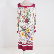 GUCCIICONIC FLORA PRINT BOATNECK DRESS[RESALE]