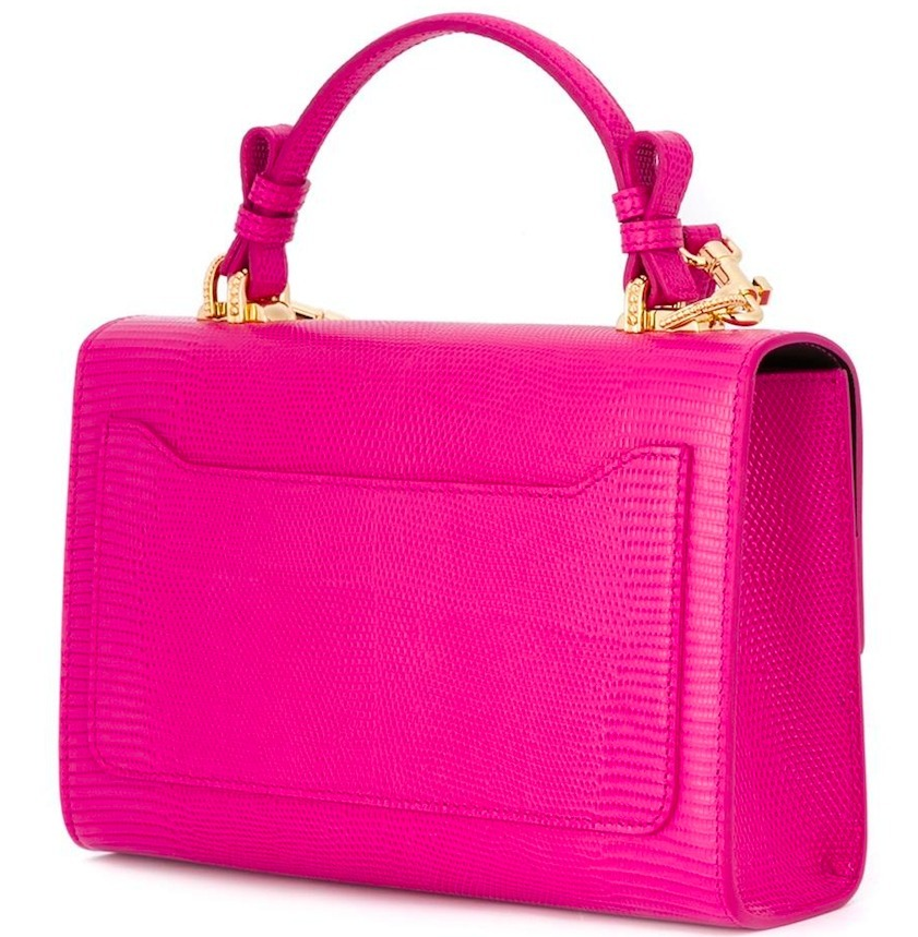 17SS DG1043 SMALL LUCIA BAG IN IGUANA EMBOSSED LEATHER