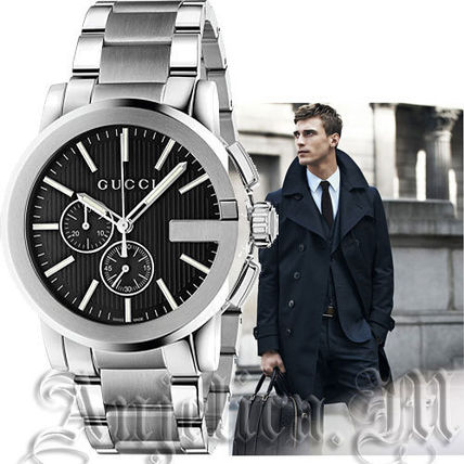 ★人気★GUCCI G-Chrono Black Dial Men's Watch  YA101204