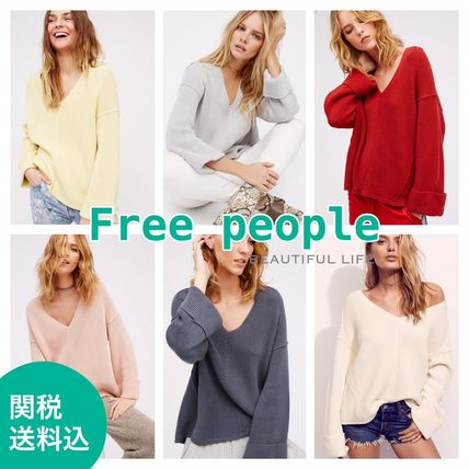 * Free people * cotton V neck sweater