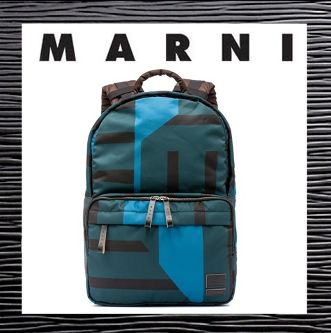 2017新作【MARNI】マルニ★Colour-block nylon backpack PORTER