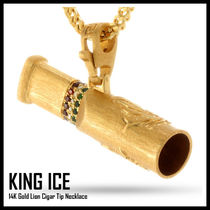 【King Ice】Gold Lion Cigar Tip Necklace★送料税込/国内発送