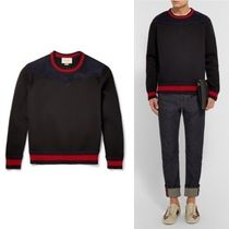 GUCCI ★★Studded Suede Panelled Bonded Cotton Jersey Sweat