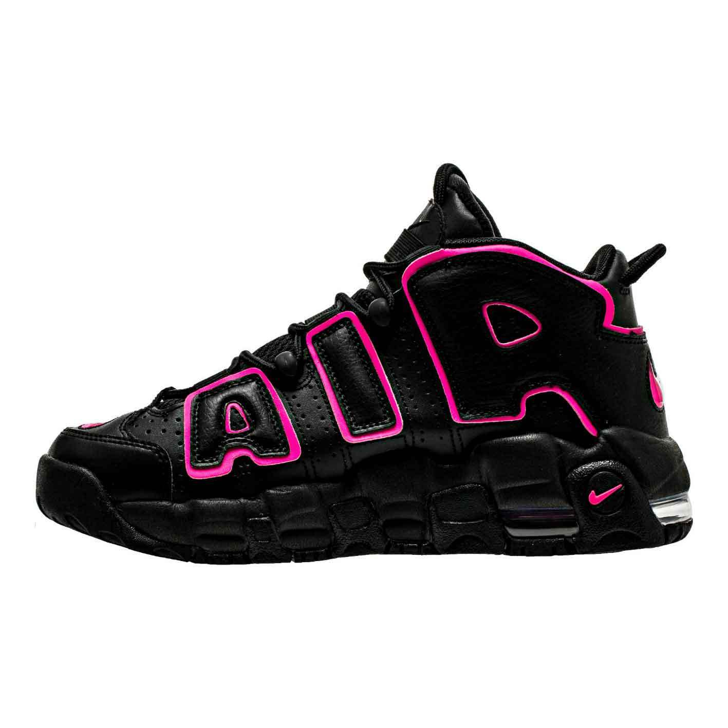 NIKE AIR MORE UPTEMPO ブラック ピンク キッズ レディース