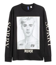SS17 H&M JUSTIN BIEBER PURPOSE TOUR L/S PAINTED TEE 送料無料