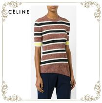 【17SS】大人気!!★CELINE★asymmetric ribbed knit top