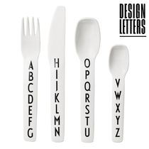 DESIGN LETTERS(デザインレターズ) おしゃぶり・授乳・食事用グッズ 【DESIGN LETTERS】メラミンカトラリー*4点セット