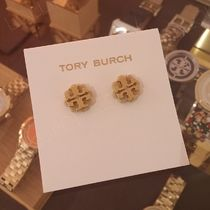 セール!Tory Burch★LOGO FLOWER RASIN STUD EARRING:ピアス