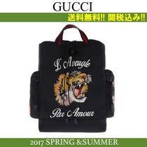2017SS関税込★GUCCI(グッチ)L'Aveugle Par Amour刺繍Backpack